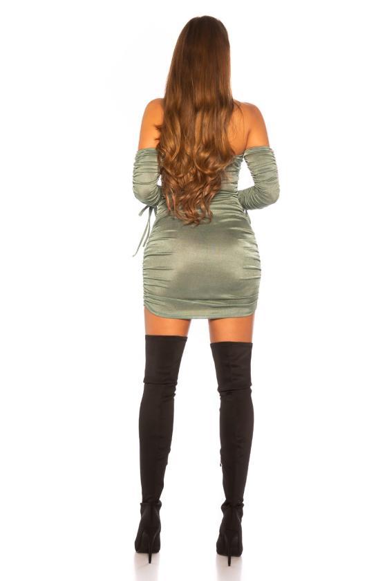 Bordinės spalvos oversize megztinis_152811