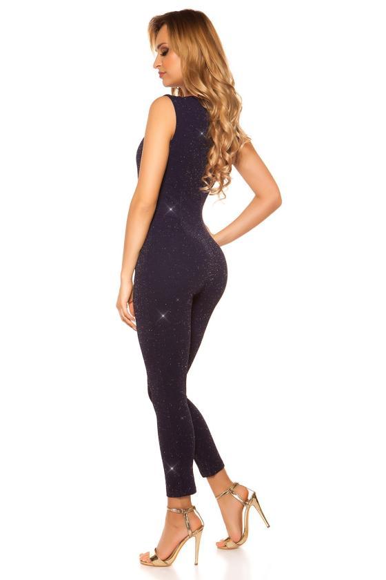 Juodos spalvos trumpa suknelė dekoruota tiuliu_152876