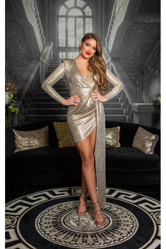 Juodos spalvos trumpa suknelė su kauke_152882