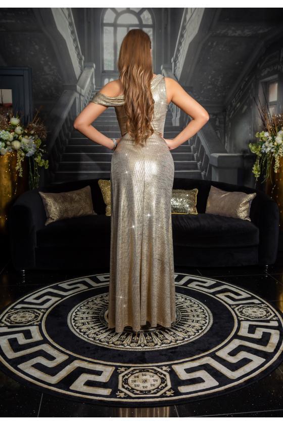 Raudonos spalvos trumpa suknelė su kauke_152888