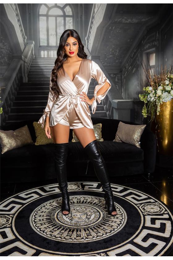 Tamsiai mėlynos spalvos trumpa suknelė su kauke_152894