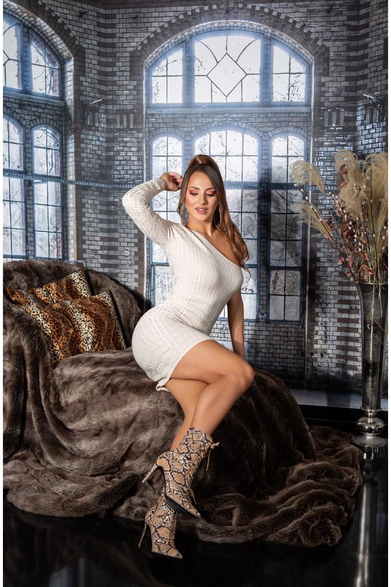 Persiko spalvos suknelė  9168