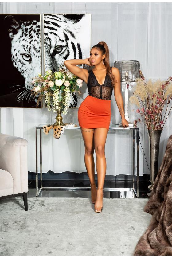 Chaki spalvos suknelė  9168