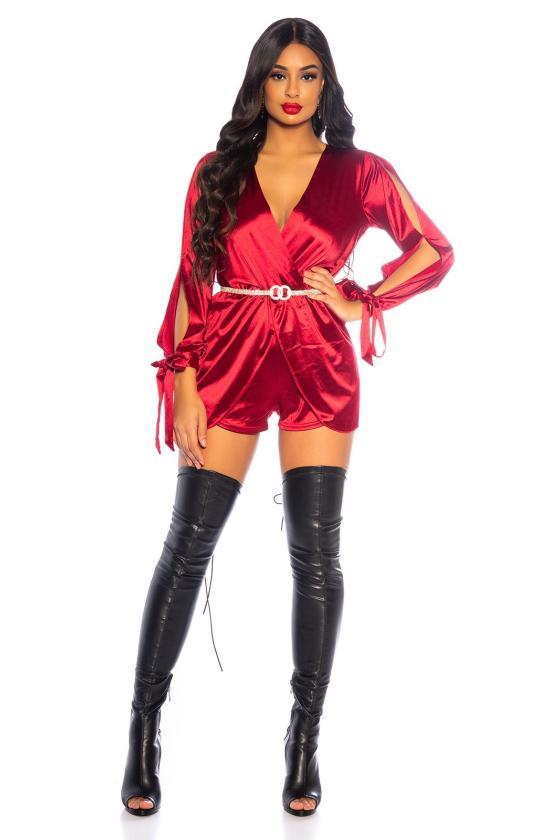 Geltonos spalvos latekso imitacijos termo kelnės