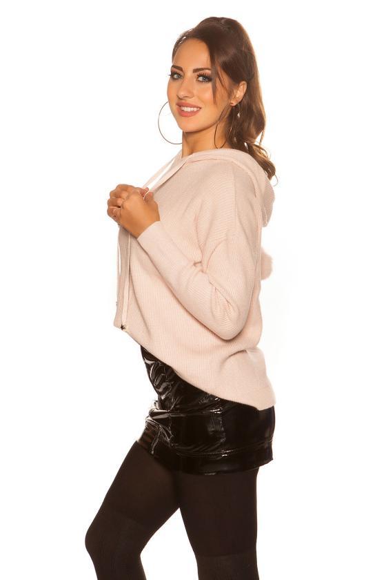 Geltonos spalvos latekso imitacijos sijonas_153386