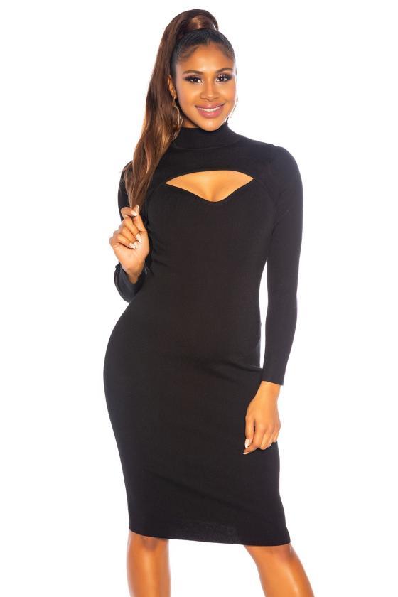 Smėlio spalvos latekso imitacijos sijonas