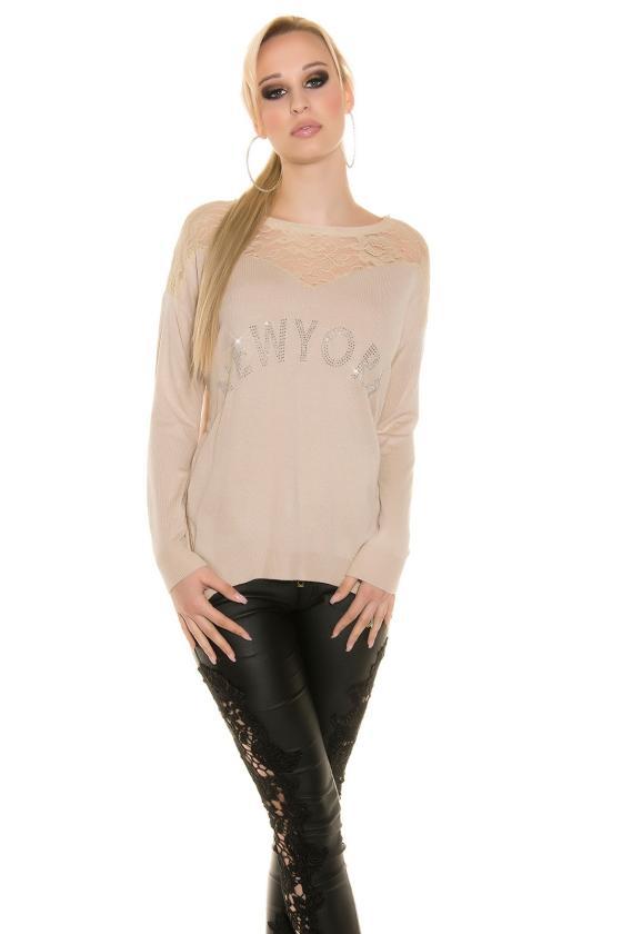 Elegantiška smėlio spalvos suknelė L191