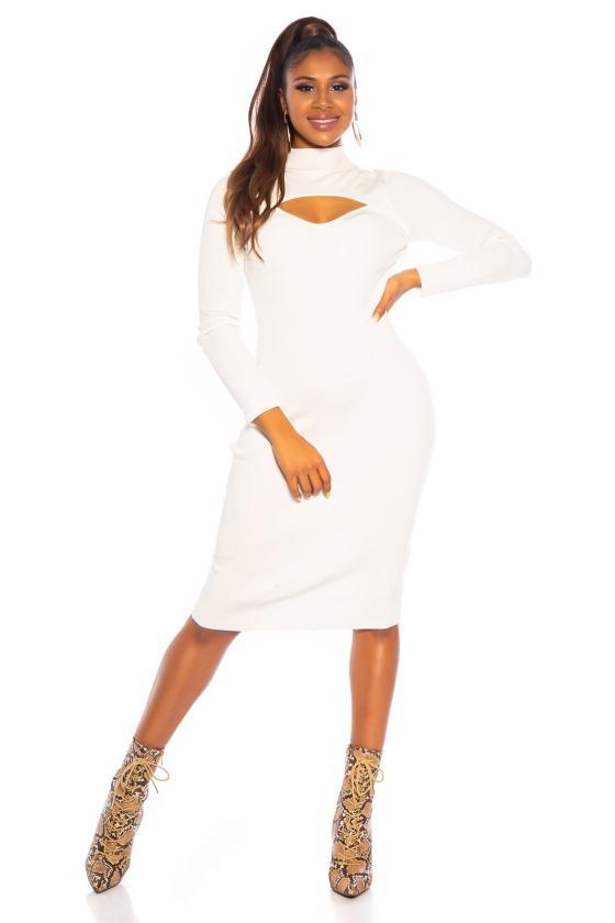Elegantiška smėlio spalvos suknelė L219_153962