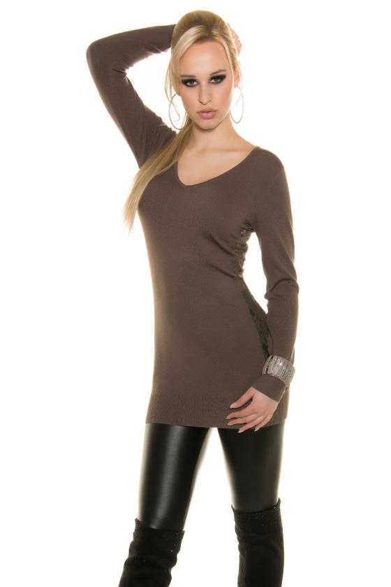 Elegantiška raudonos spalvos suknelė L219