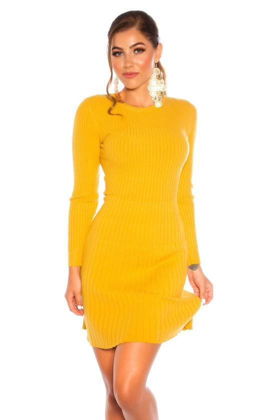 Elegantiška rožinės spalvos suknelė L219_153973