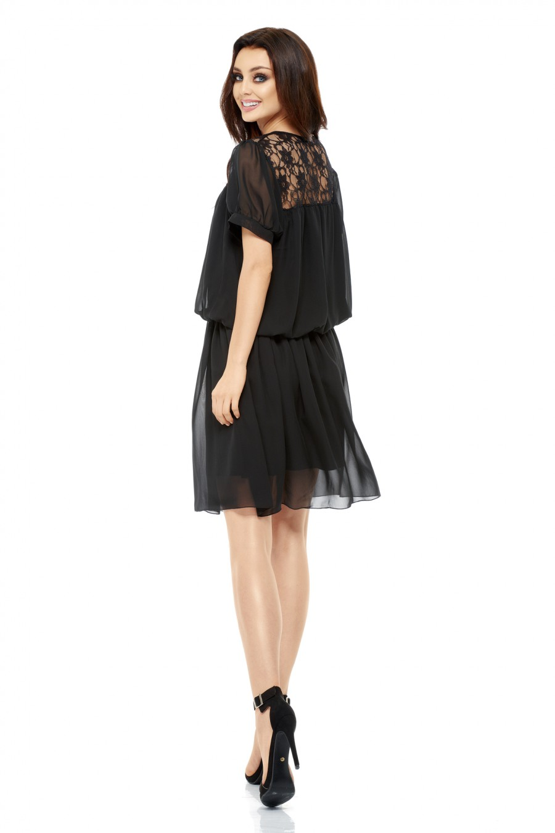 Juodos spalvos suknelė L241_154016