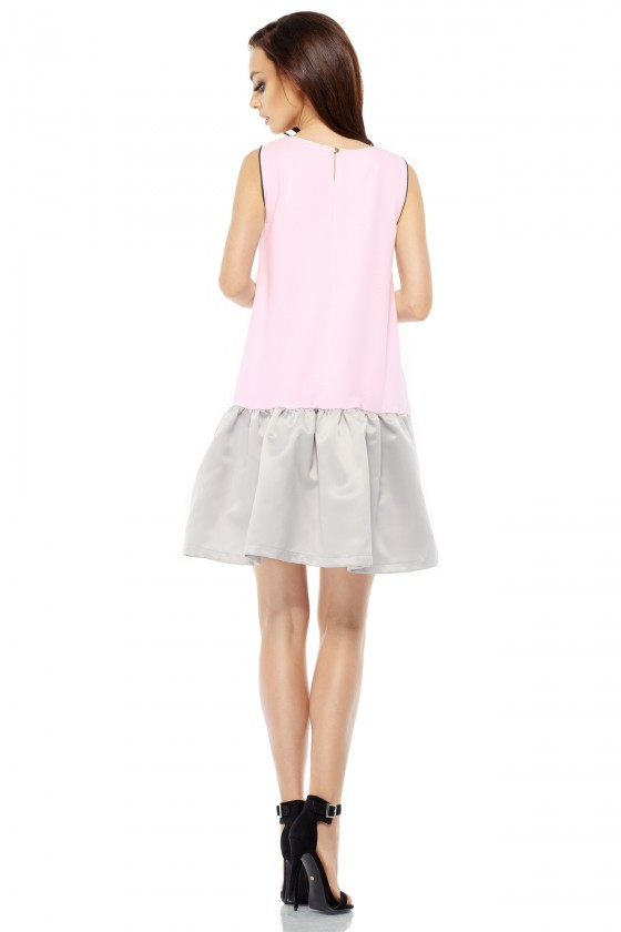 Rausva trapecijos formos suknelė L247_154034