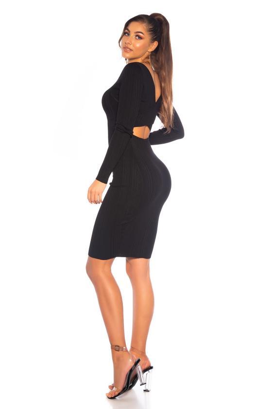 Rausva trapecijos formos suknelė L247_154035