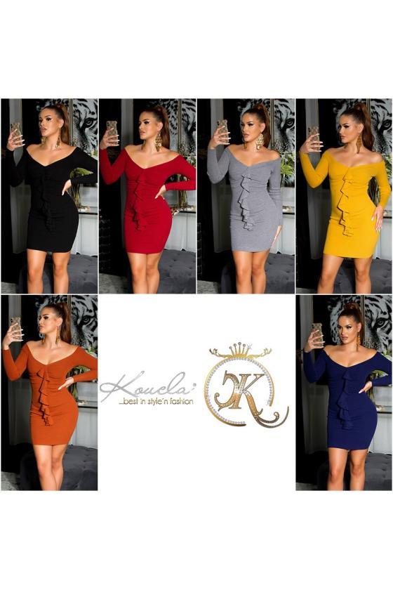 Rausvos spalvos suknelė L275