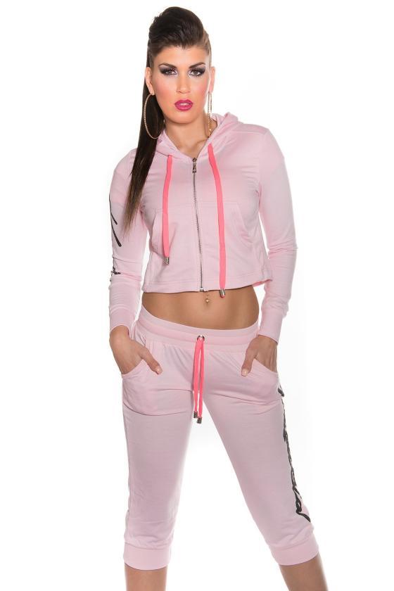 Rausvos spalvos suknelė L275_154050
