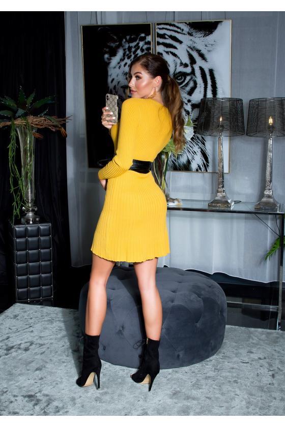 Bordinės spalvos suknelė L271_154066