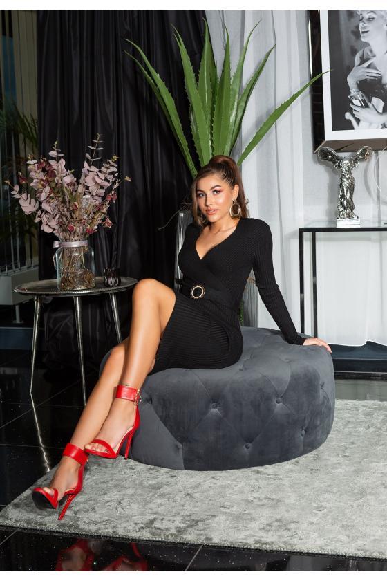 Violetinės spalvos suknelė L271