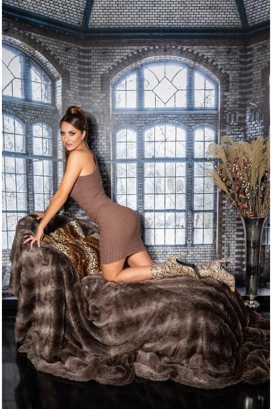 Chaki spalvos ilga suknelė L314_154115