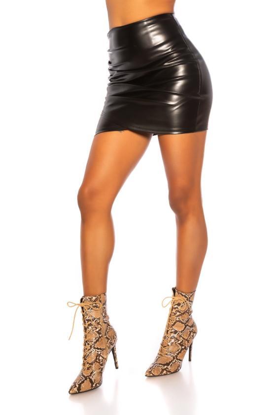 Klasikinė tamsiai mėlyna suknelė iki kelių