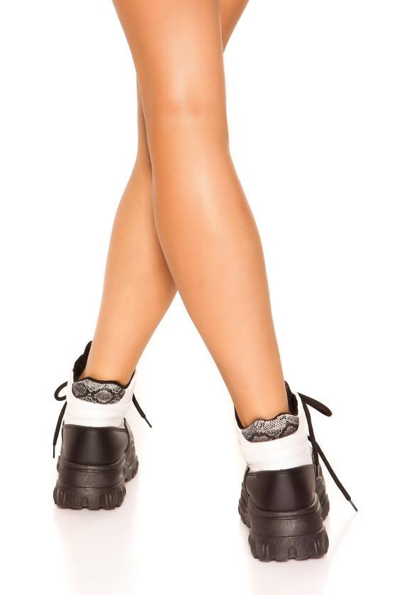Šilta tamsiai pilkos spalvos suknelė su aukštu kaklu ir kišenėmis_154175