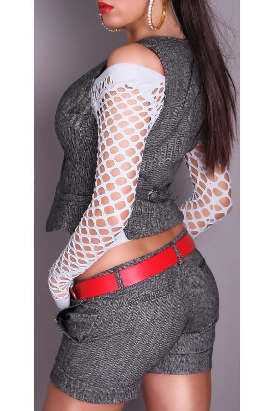 Šilta kapučino spalvos suknelė su aukštu kaklu ir kišenėmis_154182