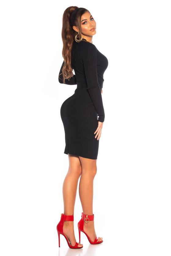 Raudona trumpa suknelė L311_154205