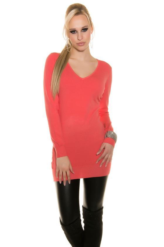 Raudona trumpa suknelė L311_154206