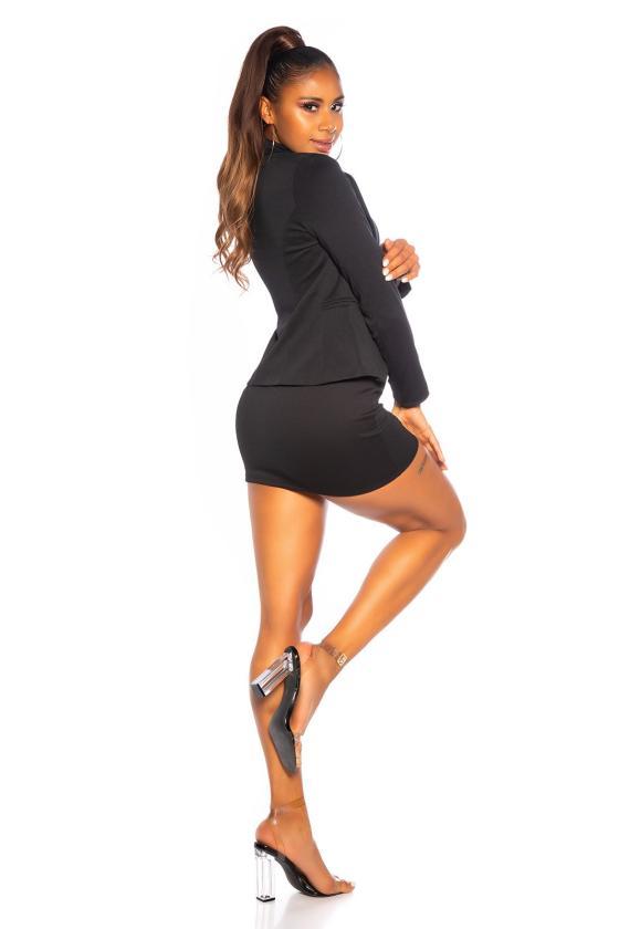Elegantiška juoda suknelė su sagomis_154242
