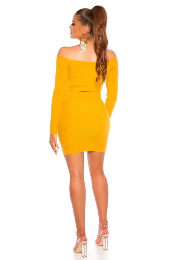 Šiltas baltas megztinis LS272
