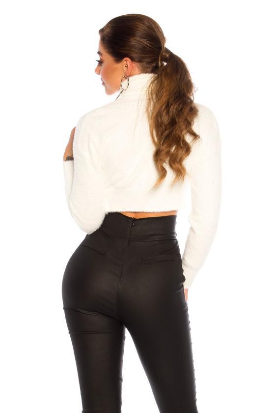 Odos imitacijos suknelė su tiulio rankovėmis_154326