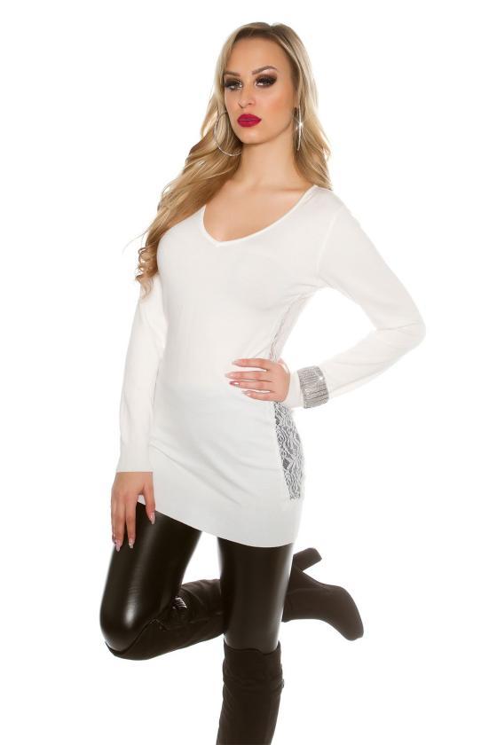 Tamsiai mėlynos spalvos laisvalaikio velvetinės kelnės_155045