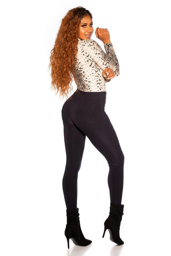 Juodos spalvos laisvalaikio velvetinės kelnės