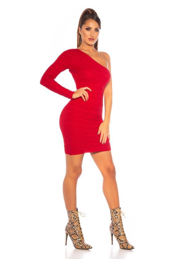 Purvinos rausvos spalvos suknelė SARA_155332