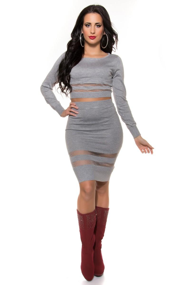 Juodos spalvos gipiūrinė suknelė MM 021-1_155400