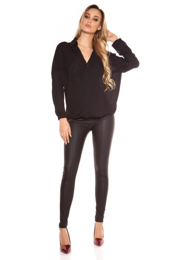 Juodos spalvos suknelė atviru petimi_155644