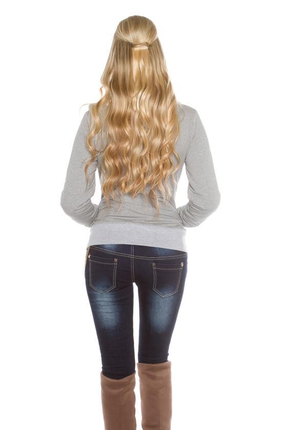 Pilkos spalvos suknelė atviru petimi_155650