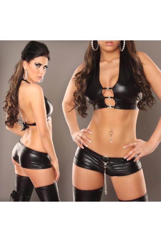 Smėlio spalvos suknelė atviru petimi_155671