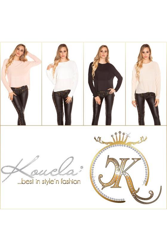 Juodos latekso imitacijos suknelė atvira nugara_155718