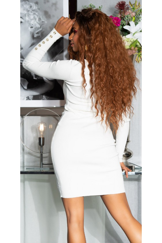 Baltos spalvos suknelė PU3994S_155738
