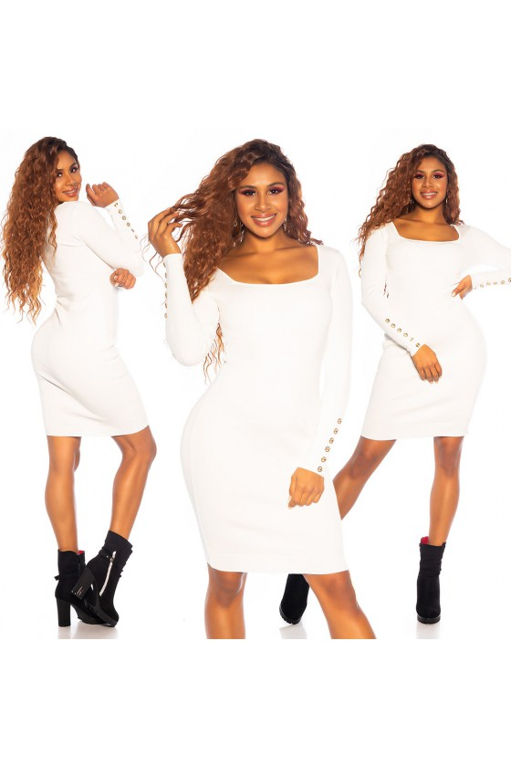 Baltos spalvos suknelė PU3994S_155739