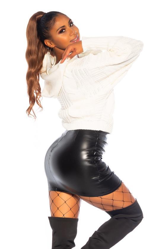 Raudonos spalvos kalėdinė mini suknelė_155857