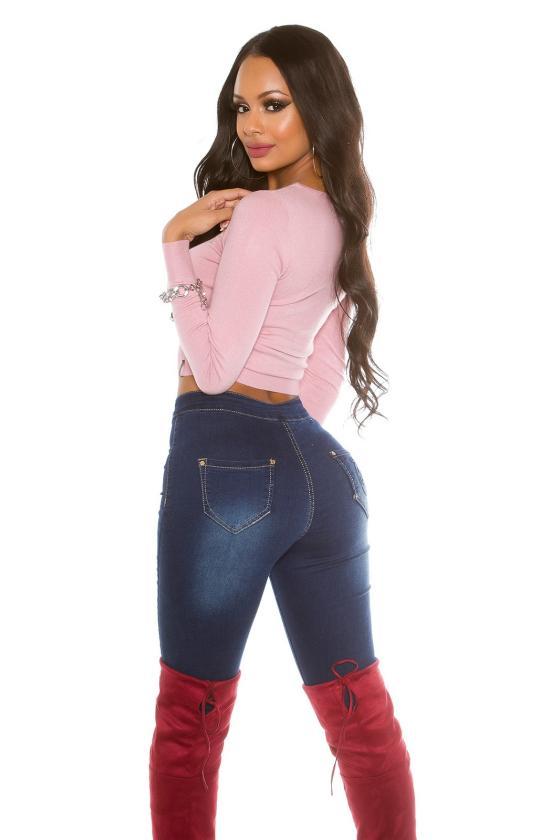 Raudonos spalvos suknelė su grandinėlėmis_155868