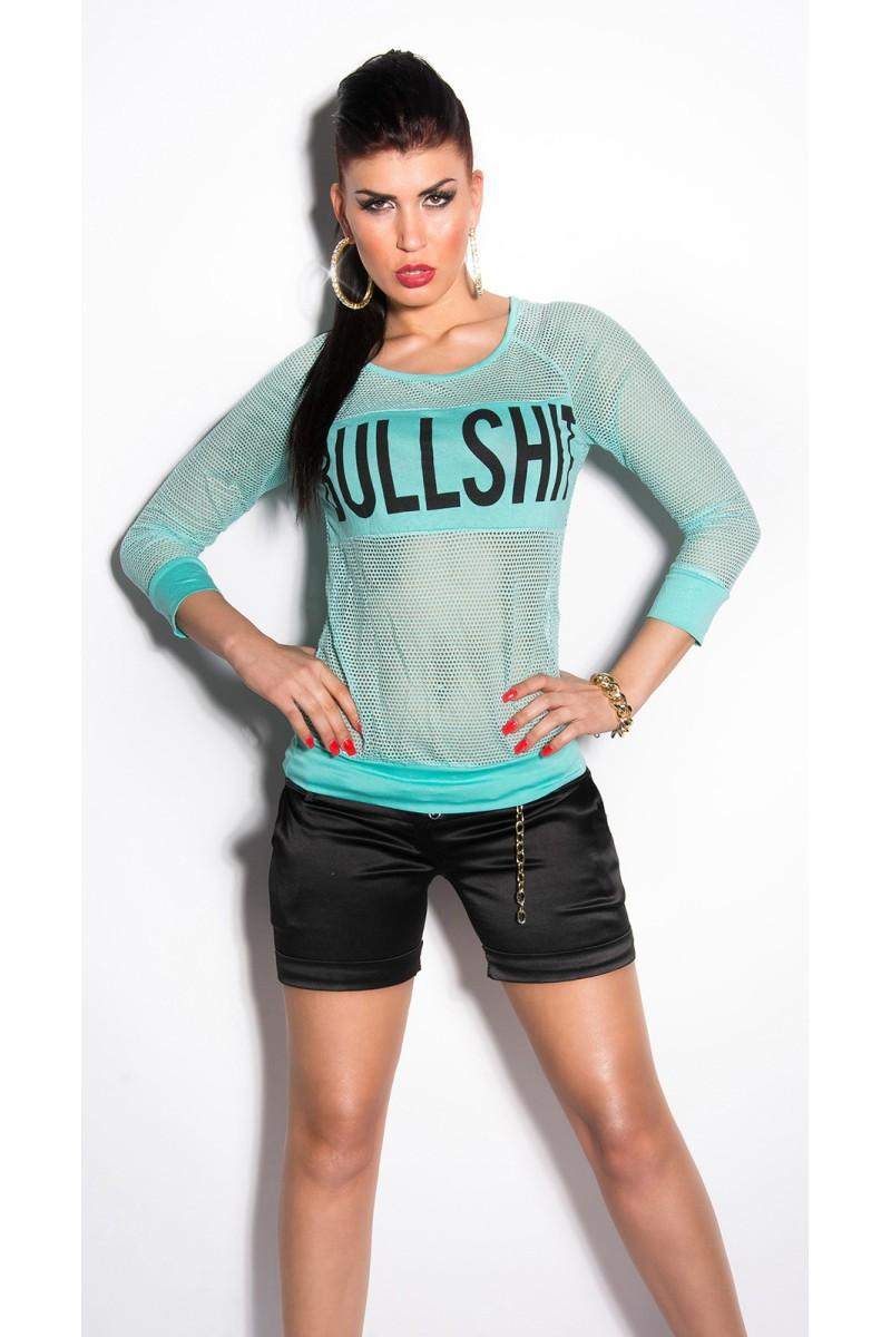 Juodos spalvos suknelė su grandinėlėmis