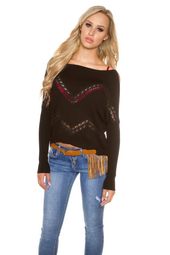 Mėlynos spalvos blizgi suknelė dekoruota tiuliu_155897
