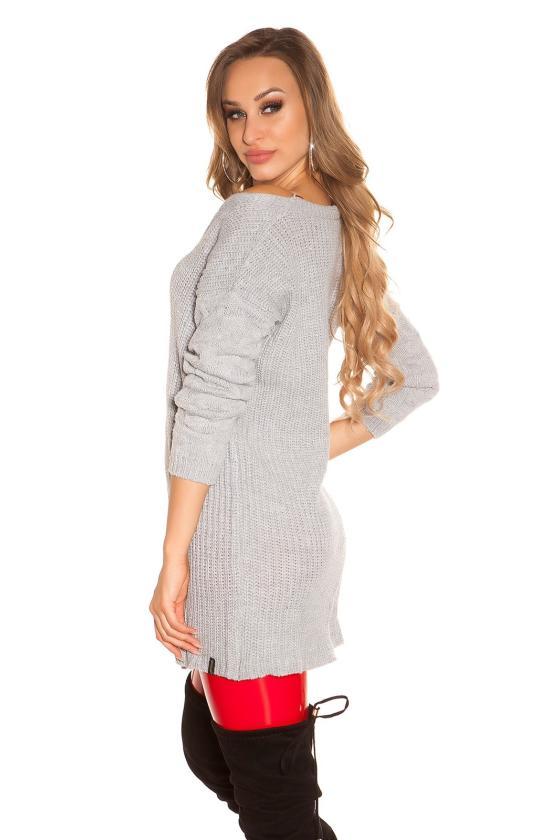 Juodos spalvos suknelė atvira nugara