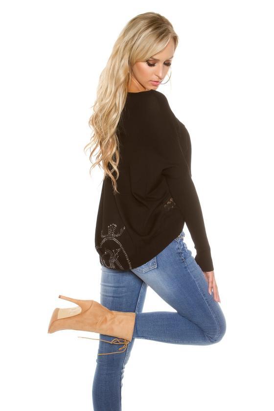 Juodos spalvos suknelė atvira nugara_155974