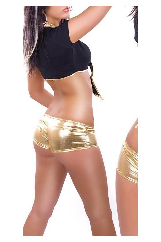 Raudonas odos imitacijos sijonas_155986