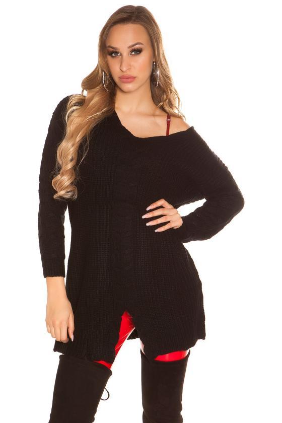 Mėlynos spalvos trumpas kardiganas_156356