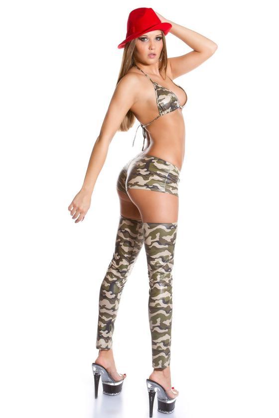 Kapučino spalvos veliūrinė suknelė SIMPLE_156581