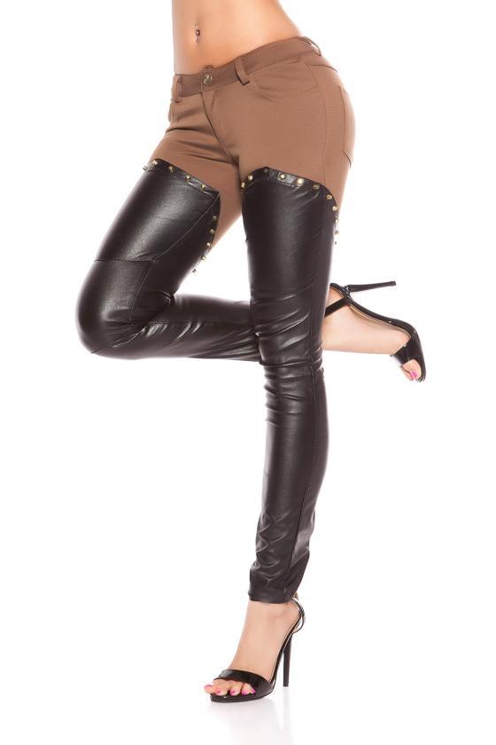 Kapučino spalvos veliūrinė suknelė SIMPLE_156583